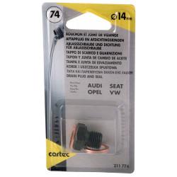 Cartec 211774 Bouchon et Joints pour Opel-Vag 14 mm